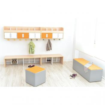 mytibo bank zum garderobenregal quadro 4 sitzh he 34 cm. Black Bedroom Furniture Sets. Home Design Ideas