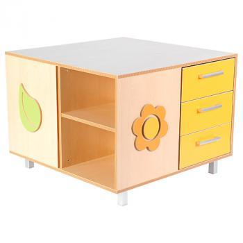 mytibo quadratischer schrank tisch. Black Bedroom Furniture Sets. Home Design Ideas