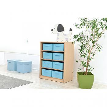 mytibo schrank mit applikation f r textilboxen hund. Black Bedroom Furniture Sets. Home Design Ideas