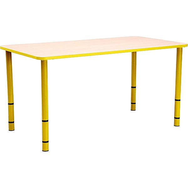 mytibo tisch bambino rechteckig mit gelben kanten und. Black Bedroom Furniture Sets. Home Design Ideas