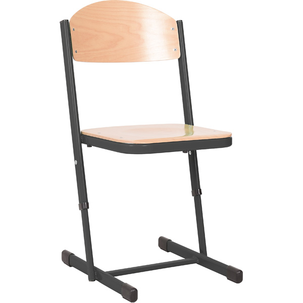 mytibo stuhl ts h henverstellbar 3 4 sitzh he 35 38 cm f r tischh he 58 64 cm schwarz buche. Black Bedroom Furniture Sets. Home Design Ideas