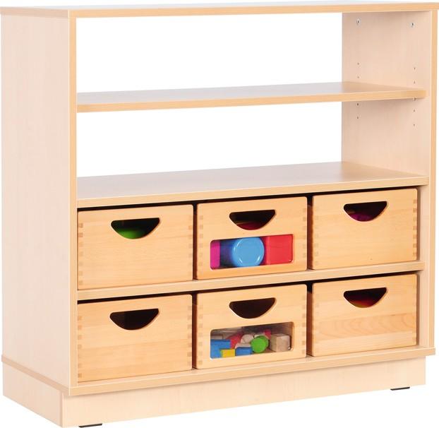 mytibo schrank m halboffen mit 3 einlegeb den auf rollen. Black Bedroom Furniture Sets. Home Design Ideas