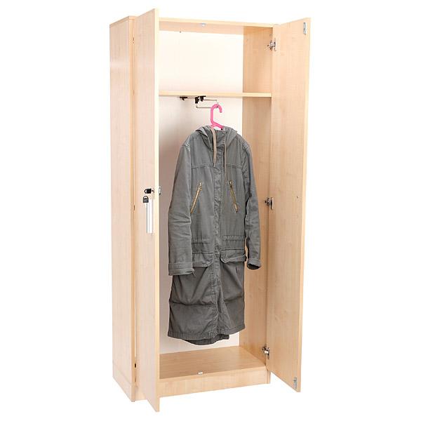 MyTibo - EXPO Kleiderschrank schmal, mit ausziehbarer Kleiderstange ...
