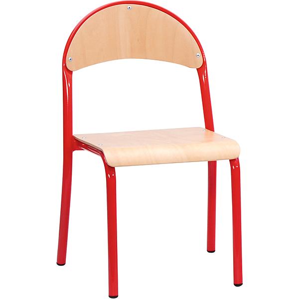 mytibo stuhl p 3 sitzh he 35 cm f r tischh he 58 cm rot buche. Black Bedroom Furniture Sets. Home Design Ideas