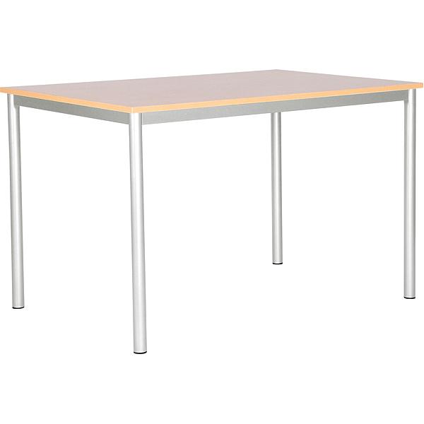 mytibo mila tisch 120x80 tischh he 76 cm alufarben ahorn. Black Bedroom Furniture Sets. Home Design Ideas