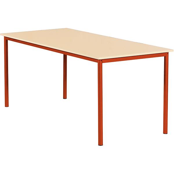 mytibo mila tisch 160x80 tischh he 76 cm rot ahorn. Black Bedroom Furniture Sets. Home Design Ideas