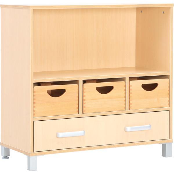 mytibo schrank m mit schublade und fach f r ordner auf beinen. Black Bedroom Furniture Sets. Home Design Ideas