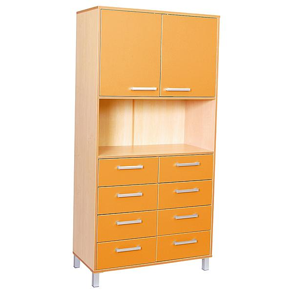 Hochschrank Premium Mix, orange