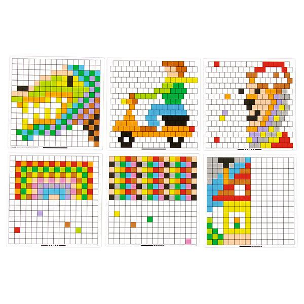 MyTibo - Vorlagen für Quadrat-Mosaik-Steckspiel
