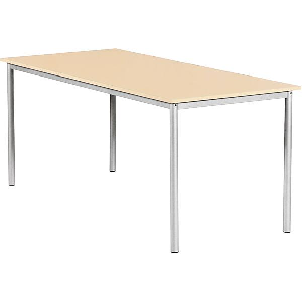 mytibo mila tisch 160x80 tischh he 76 cm alufarben ahorn. Black Bedroom Furniture Sets. Home Design Ideas