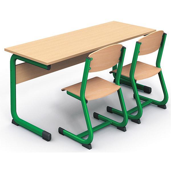 mytibo doppeltisch in c 4 tischh he 64 cm gr n buche. Black Bedroom Furniture Sets. Home Design Ideas