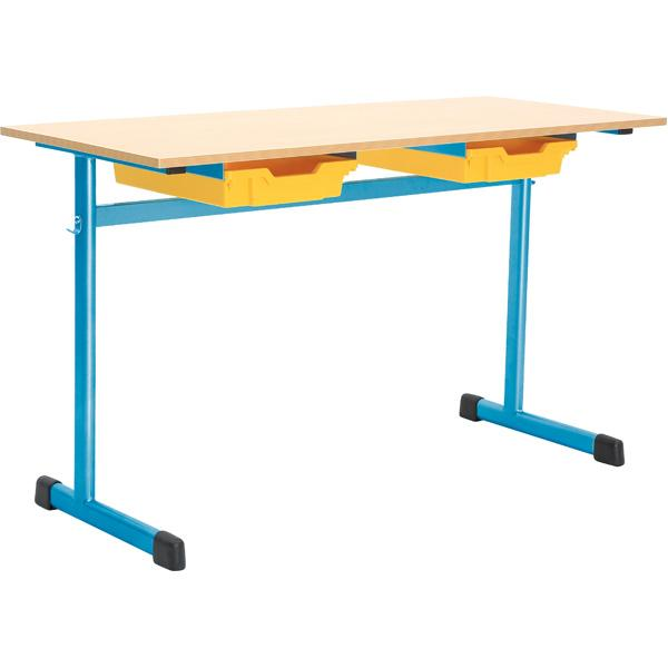 mytibo doppeltisch g 3 tischh he 58 cm blau. Black Bedroom Furniture Sets. Home Design Ideas